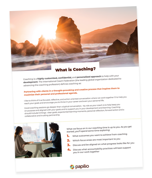 coaching brochure snapshot