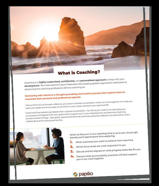 coaching brochure snapshot
