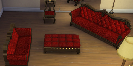Mod The Sims - Gothic Thistle Furniture Set