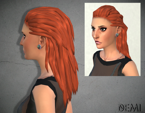 My Happy Ending - Demi Hairstyle - for Sims4 -23 colors, naturals,...