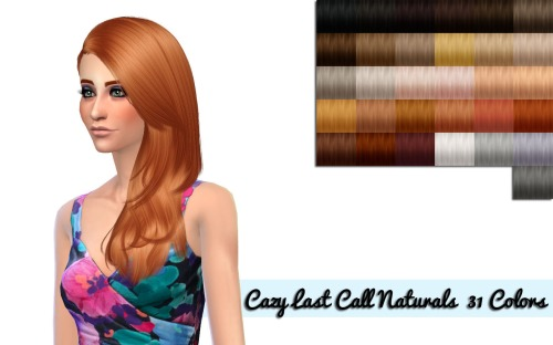 nessasims, Cazy Last Call Naturals pooklets texture color...