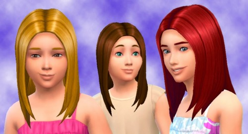 Straight Hair for Girls by Kiara24 Download... - The Sims Generations CC Library