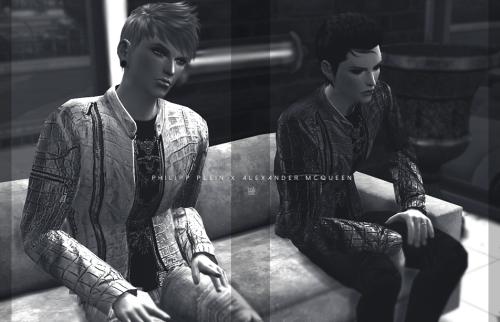 ˈtɒksɪk | PHILIPP PLEIN Leather Jacket x Alexander McQueen...