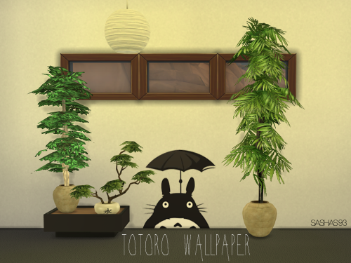 Totoro Wallpaper Works for all 3 wall sizes. 3...