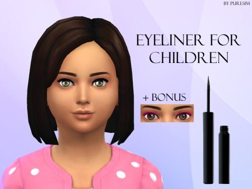 1) Eyeliner for children! Black & Pink. Located... - Puresim