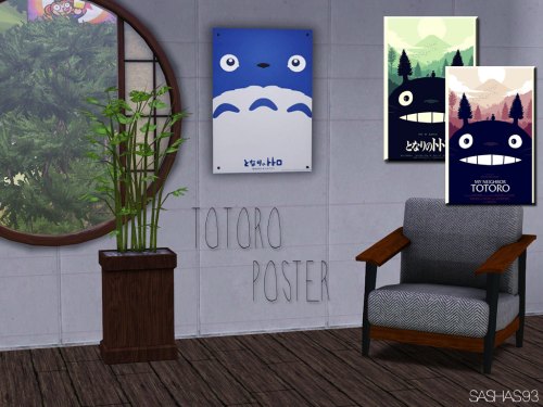 This set contains 3 posters with Totoro. If you...