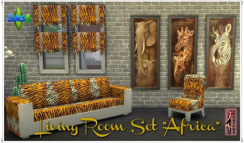 """Annett's Sims 3 World • Living Room Set """"Africa"""" DOWNLOAD Mesh = EA ..."""
