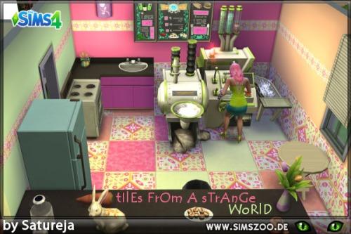 Blackys Sims 4 Zoo - Strange World Tiles by Satureja Antares DOWNLOAD...