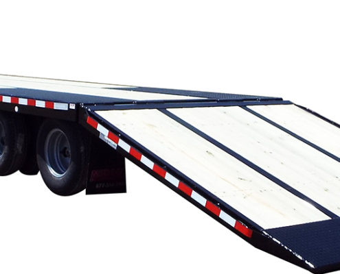 Black FB36GN hydraulic beavertail trailer from Midsota Manufacturing.