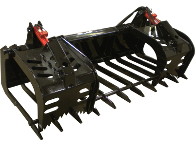 Midsota skid-steer dual cylinder industrial grapple.
