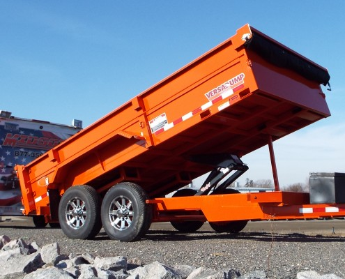 Midsota Dump Trailer HV Orange