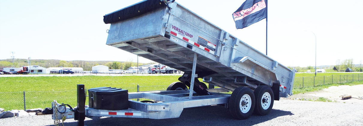 Galvanized VersaDump HV-14 trailer from Midsota Manufacturing.