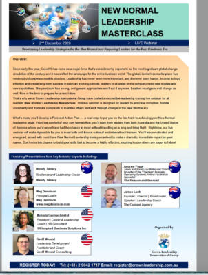 Speaker at New Normal Leadership Masterclass in Singapore