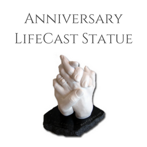 Wedding Anniversary LifeCast of Hands