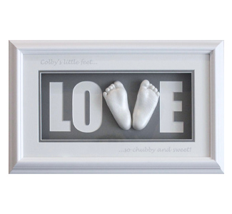 Triple Shadow Box White Frame