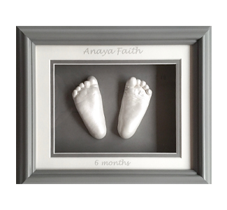 WP Creations Single shadow box grey frame white mats two feet