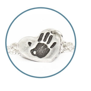 Product Heart Handprint Pendant