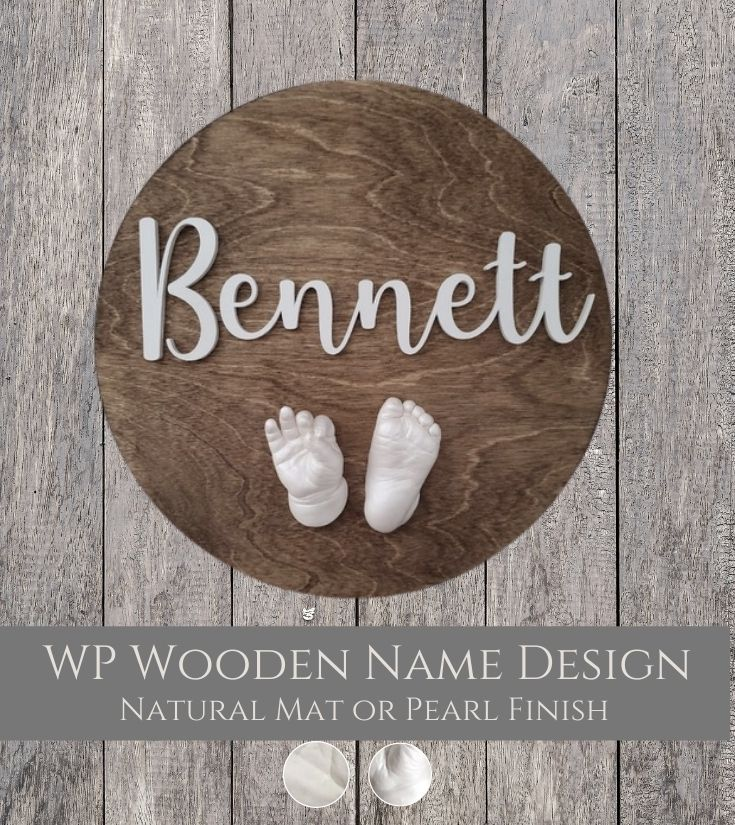 WP Wooden Name Design Lifecasts