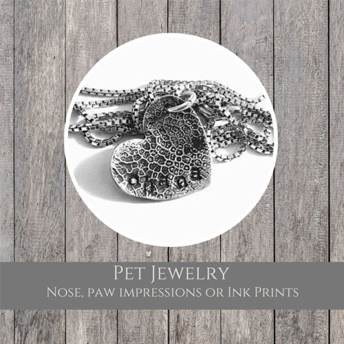 WP Creations Pet Paw or Nose Sterling Silver Jewelry