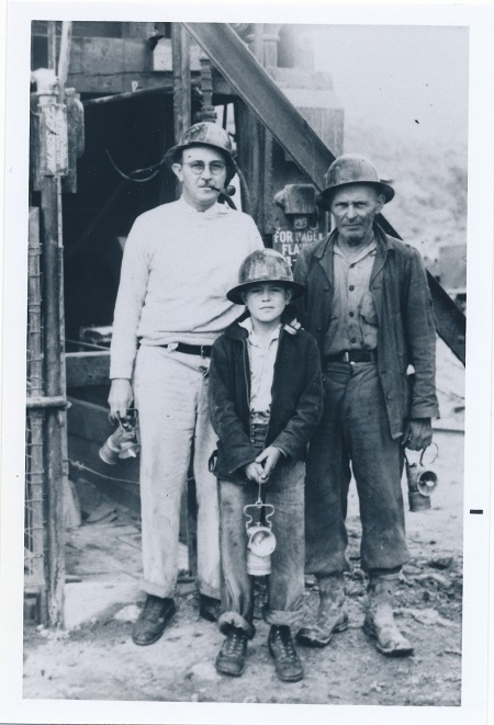 Jack Still with son Art and Paddy Pinkerton the Mine Boss Late 1930s