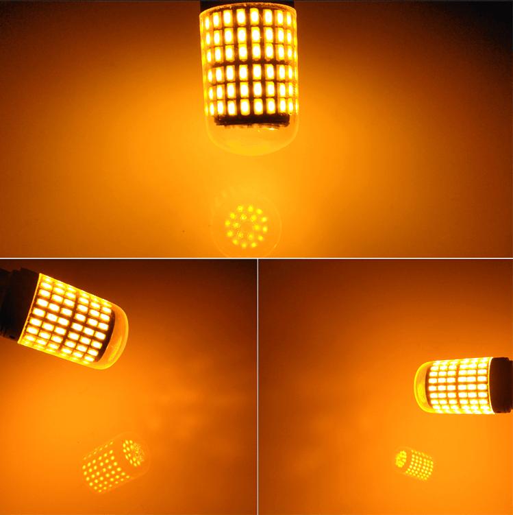 Amber LED BA15S, T20, 7440, BAU15S, P21W, W21W