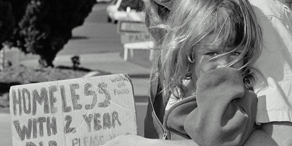 homeless little girl