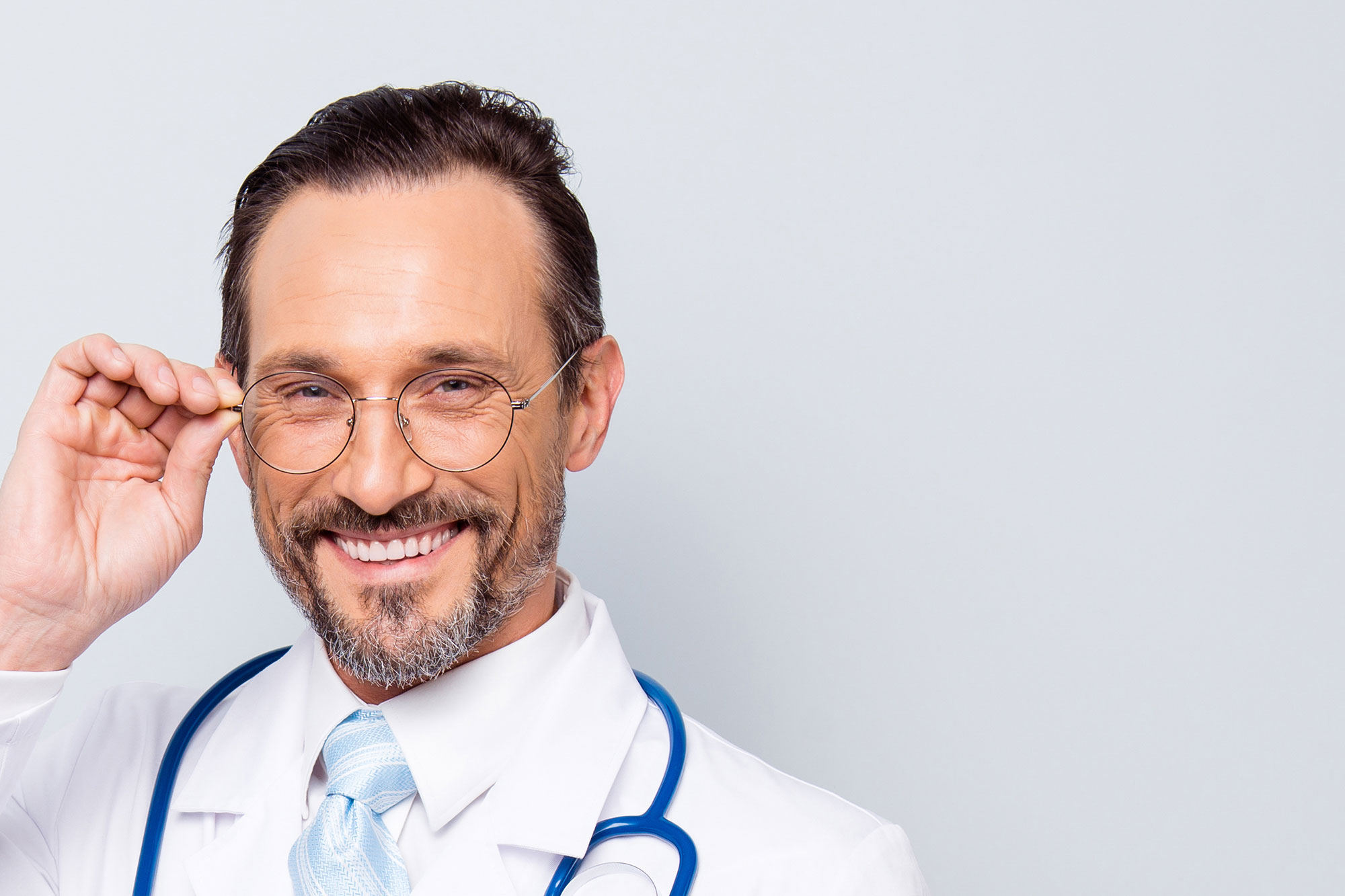 physician smiling
