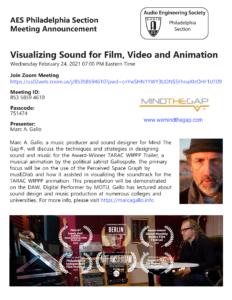Visualizing Sound with Sound Designer Marc A. Gallo