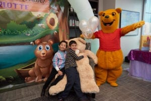 Winnie The Pooh. Hire a Cook County, Illinois Party Character for kids, Magical character - Magic Gram. Chicago Clowns for Kids Party show - $200. OR Hire Cook County, Illinois - Party Characters for Kids or Singing Telegram - $125