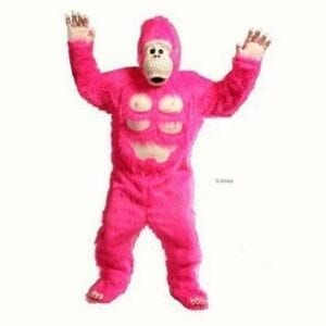 Pink Gorilla Singing Telegram $125.  3 complete songs sung LIVE and a comical gorilla skit