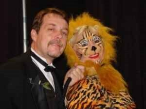Ringmaster magician and Tiger Face Painting Artist