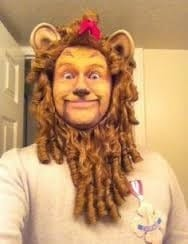 Hire The Cowardly Lion.. OR, hire a face painter to paint your Halloween faces. 90 minutes $200