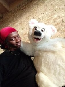 Hire magician with adorable Polar Bear puppet