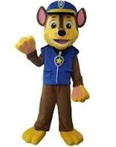 Hire Chase from Dog Paw Patrol. Chase to the rescue! $200. 90 minutes. Same Day singing telegrams magicians Chicago Illinois Indiana Entertainers Balloon Delivery Harry Potter mascot characters