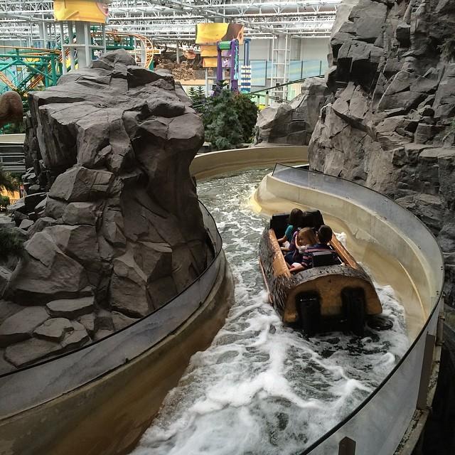 Log ride inside #mallofamerica #minneapolis