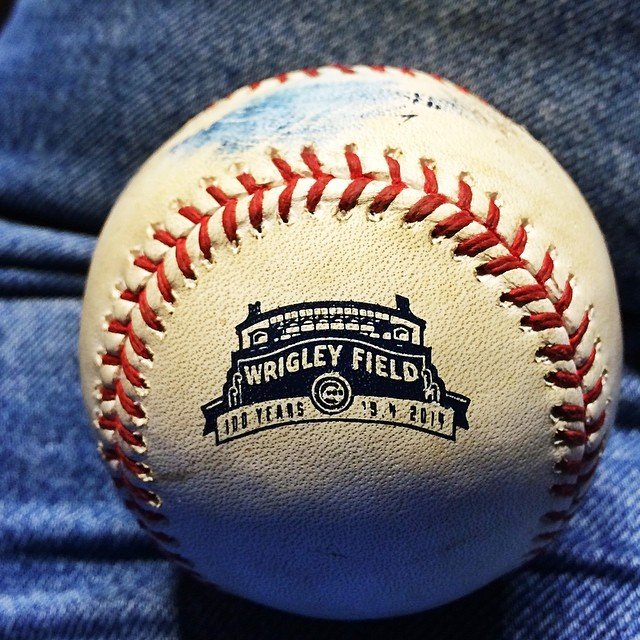 #baseball has 100th Anniversary of #wrigley Field on it. #chicago #cubs