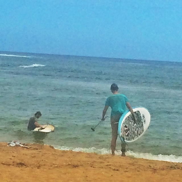 Husband & Wife Surfers.