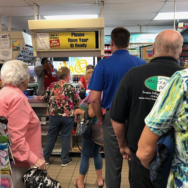 #lottery fever hits Florida. #megamillions