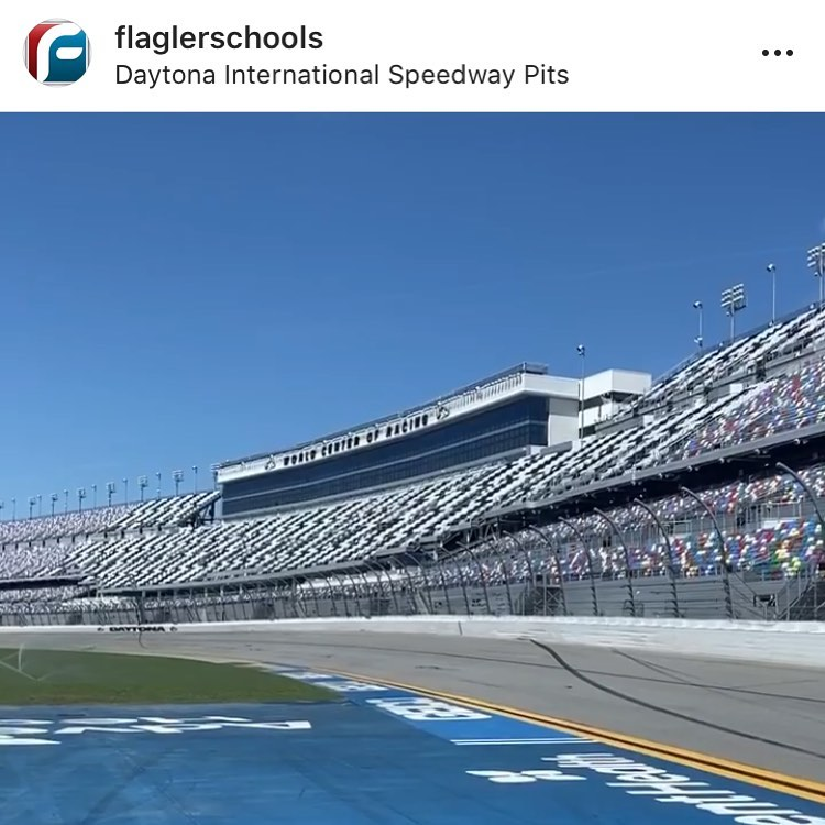 The Speedway has donated the stadium to local high schools for Graduation. So excited for Edan. He gets a ceremony in a huge Nascar Stadium!