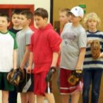Little League players at draft