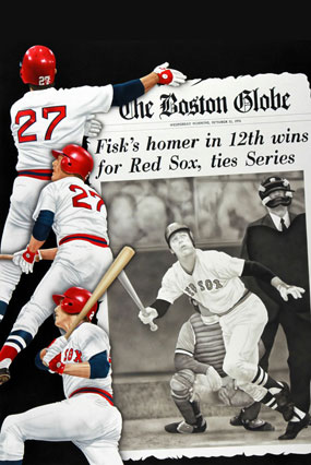 Carlton Fisk of the Boston Red Sox