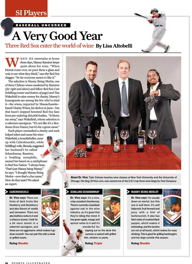 Red Sox Wines in Sports Illustrated