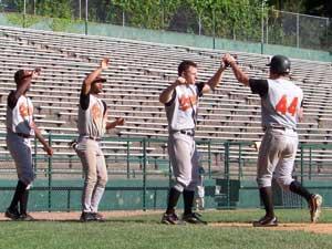 Boston Orioles scoring runs in Cooperstown