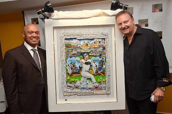 Charles Fazzino with Reggie Jackson