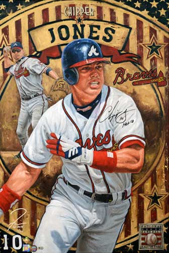 Chipper Jones, by Justyn Farano