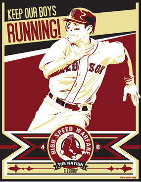 """Chris Speakman, Jacoby Ellsbury of the Boston Red Sox: """"Keep Our Boys Running"""""""