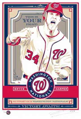"""Chris Speakman, Bryce Harper of the Washington Nationals: """"This is Your Fight"""""""
