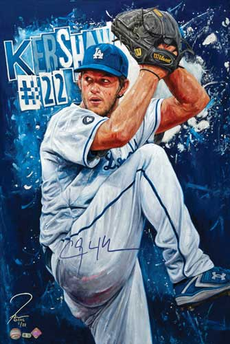 Clayton Kershaw, by Justyn Farano