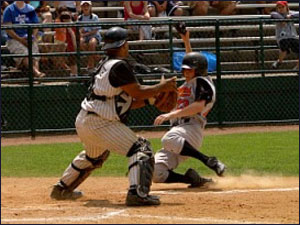 Cooperstown Play At The Plate