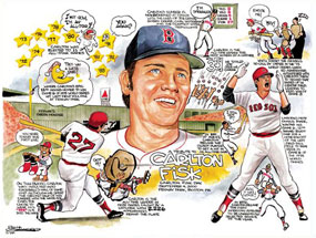 "Frank Galasso, Carlton Fisk of the Boston Red Sox: ""A Tribute to Carlton Fisk"""